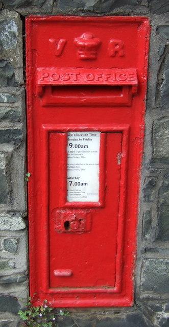 Victorian postbox on Innerleithen Road, Peebles
