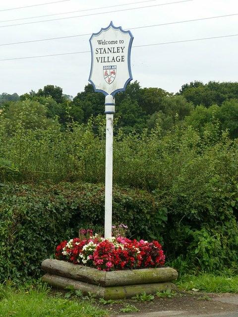Stanley village sign