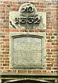 SK4341 : Commemorative panel and datestone, The Old School, West Hallam by Alan Murray-Rust