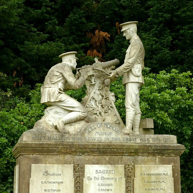 Sculptural group, West Hallam war memorial