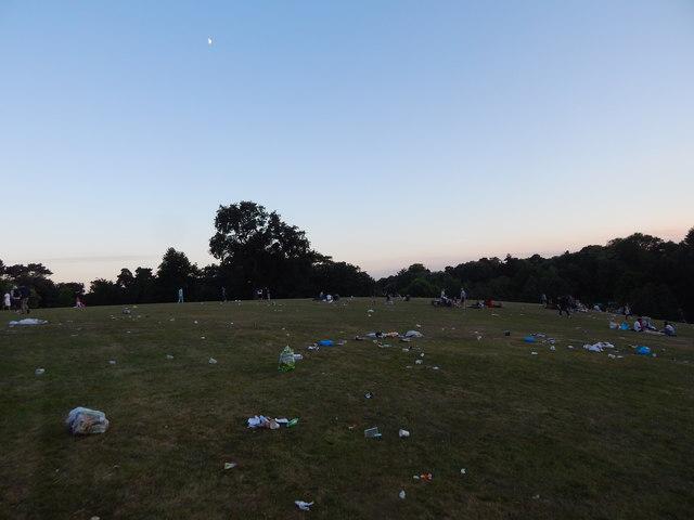 Rubbish at Christchurch Park music day 2017