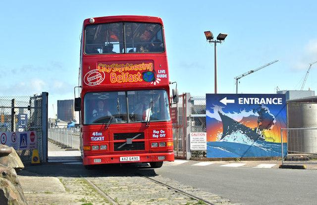 Ho-Ho bus, Titanic Quarter, Belfast (July 2017)