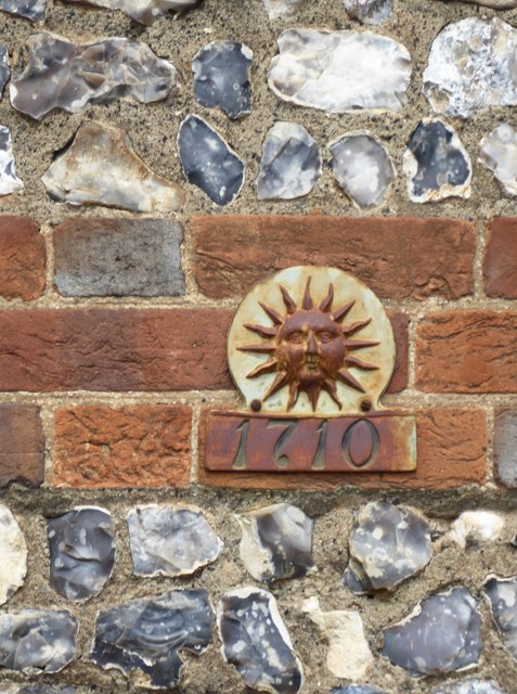 Fire-mark on the Old School, Chilton Foliat
