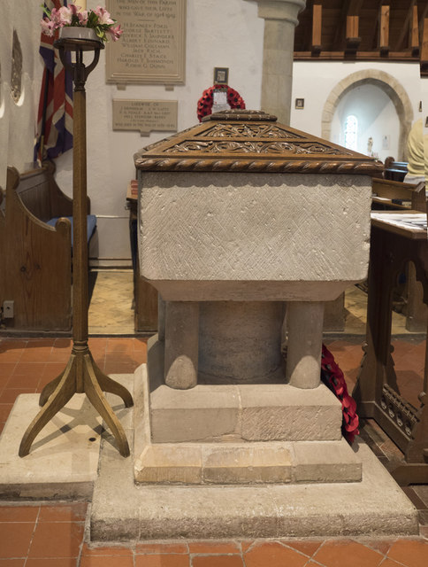 St Andrew, Bishopstone - Font