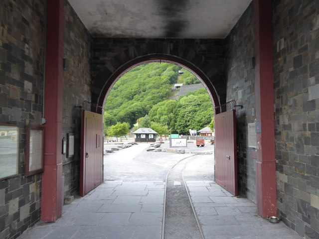 The entrance to the National Slate Museum at Dinorwic