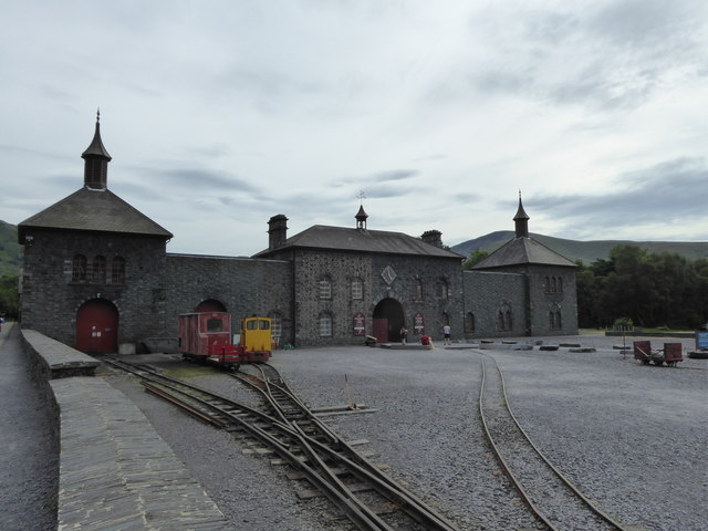 The northern elevation of the National Slate Museum at Dinorwic