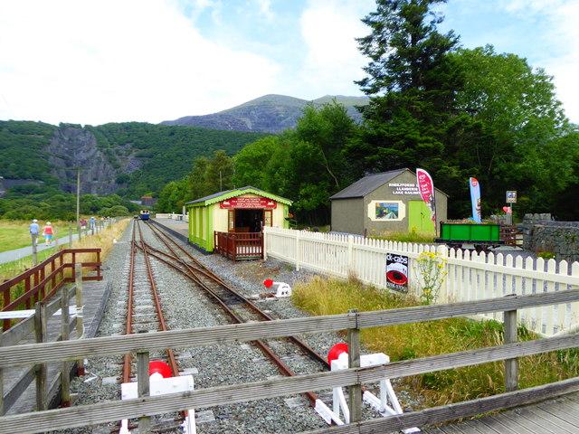 Llanberis station on the Llanberis Lake Railway