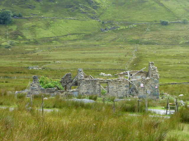 Ruined building at Cae-newydd