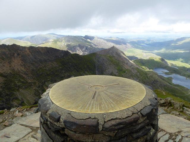 Topograph on the summit of Snowdon