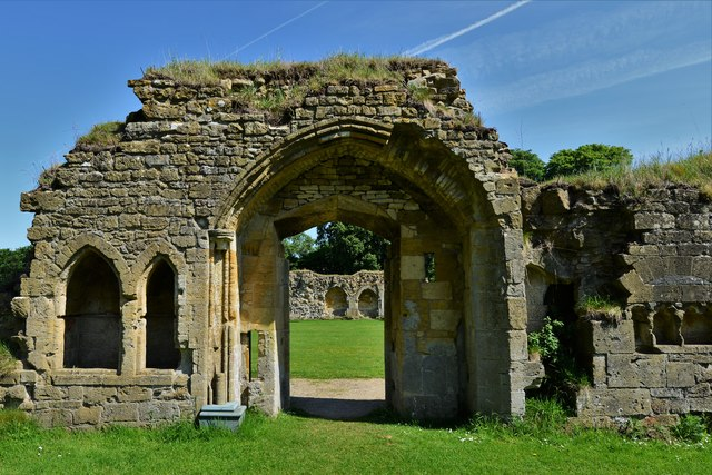Hailes Abbey: Entrance to the Monks' Dining Hall (Refectory)