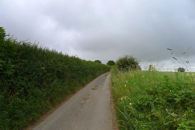 Greenway Lane near the top of the Cotswold escarpment