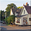 TL4355 : Grantchester: a drink at The Green Man by John Sutton