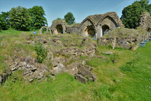 Hailes Abbey: The Undercroft (the Monks' Dormitory would have been over this)