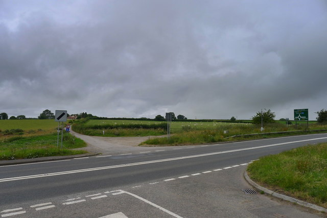 The Cotswold Way crossing the A46 near Cold Ashton