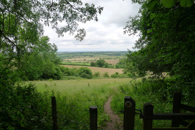 The Cotswold Way leaving Dyrham Wood