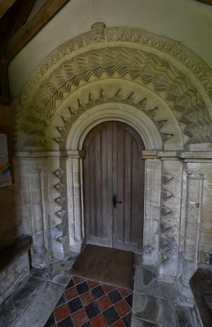Little Barrington, St. Peter's Church: The Norman south doorway
