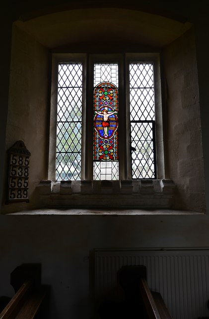 Little Barrington, St. Peter's Church: Stained glass window