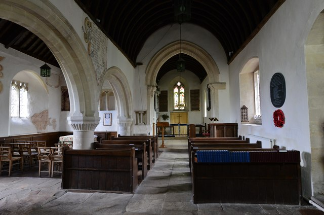 Little Barrington, St. Peter's Church: The Norman nave