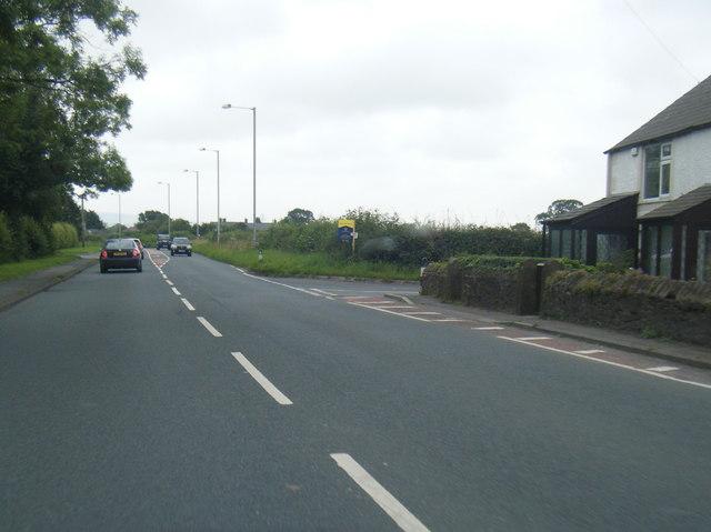 B6243 Preston Road, east of Grimsargh