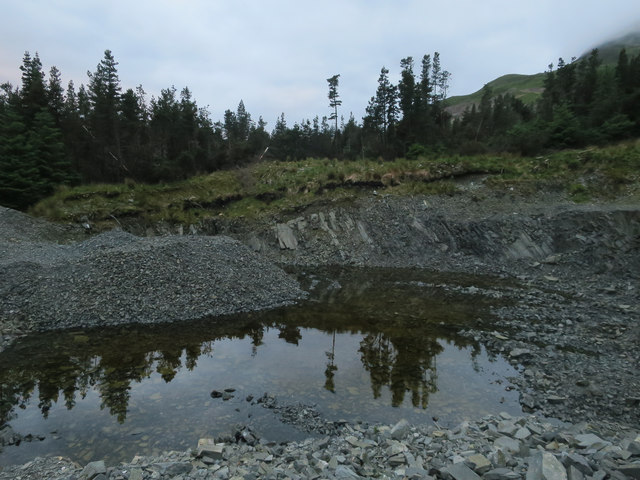 Small quarry by the track