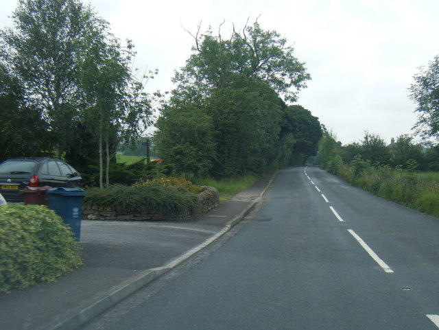 B6243 Knowle Green Road heading east