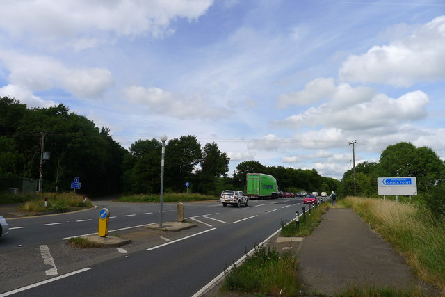 The Cotswold Way crossing the A46