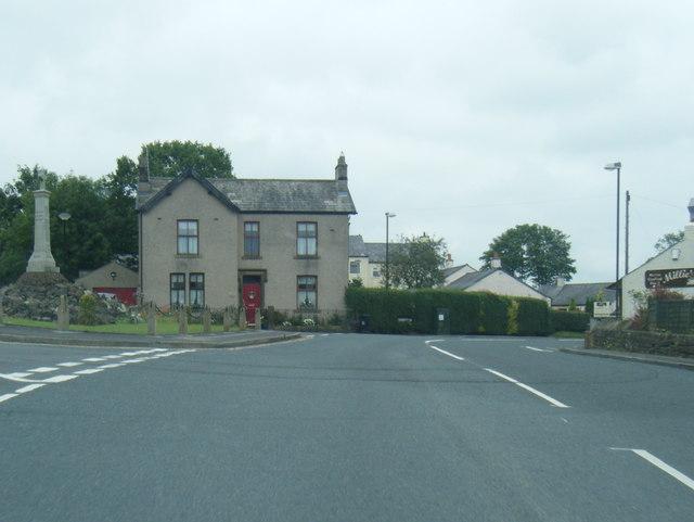 Hurst Green village and war memorial