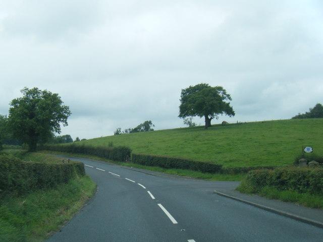 B6243 Whalley Road near Winkley Hall Farm
