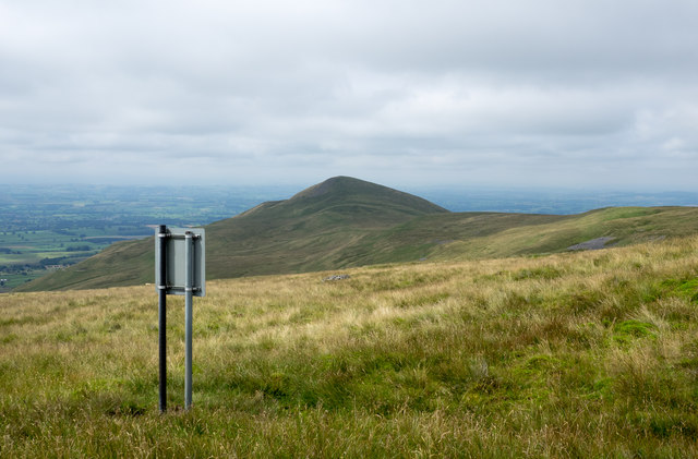 Sign on moorland