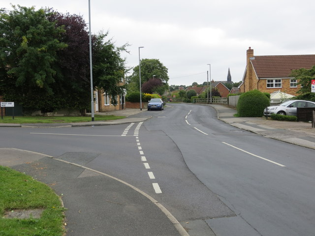 Hall Lane in Horsforth at its junction with West End Rise