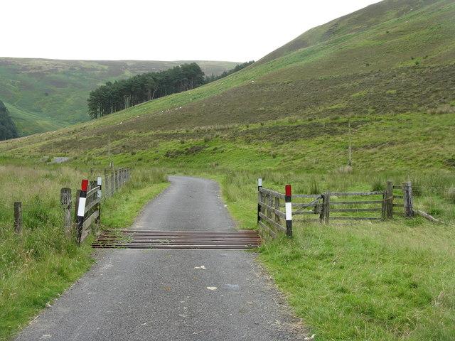Cattle grid in Glen Holm