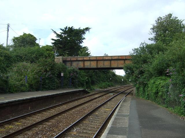 Bridge over railway near Hayle Railway Station