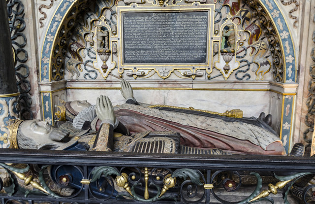 Detail of Robert Dudley tomb, St Mary's church, Warwick