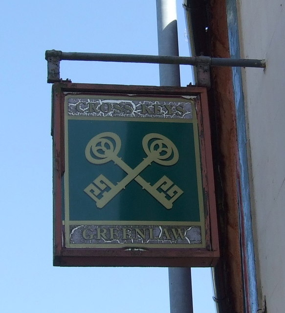 Sign for the Cross Keys, Greenlaw