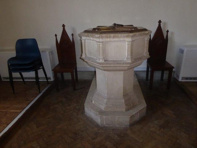 St. Peter, Stonegate:  font