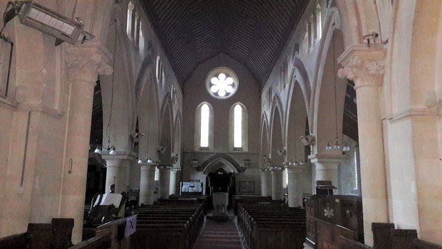 View west in St Michael and All Angels, Leafield