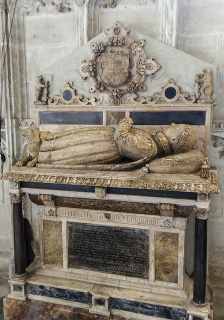 """Tomb of """"The Noble Impe"""", St Mary's church, Warwick"""