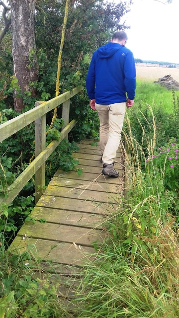 Footbridge over a field drain near Hovingham