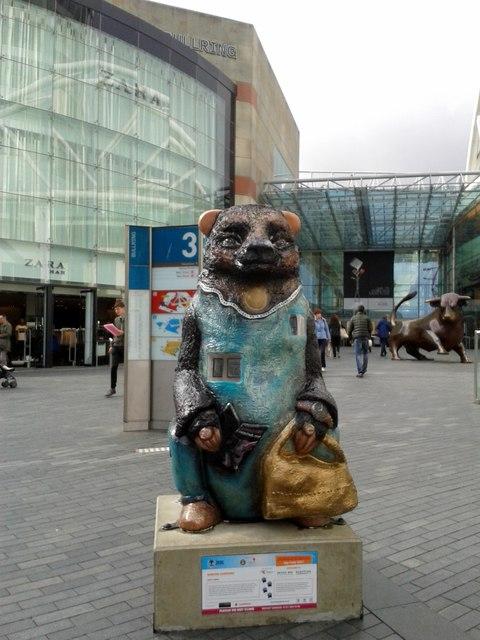 Birmingham Big Sleuth Window Shopping Bear