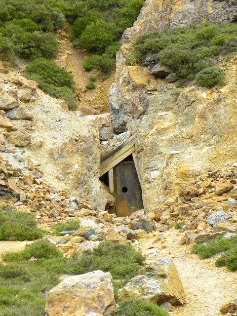 Old mine entrance, Parys Mountain