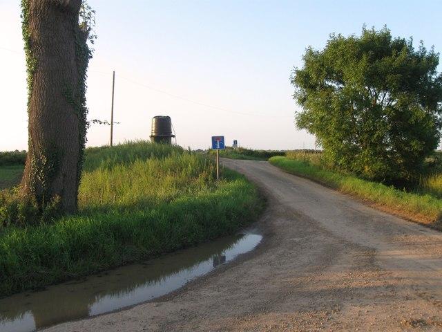 Farm access road