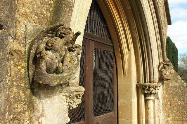 Porch, Powerstock church