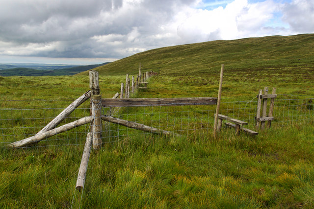 Fence junction, Crag Fell