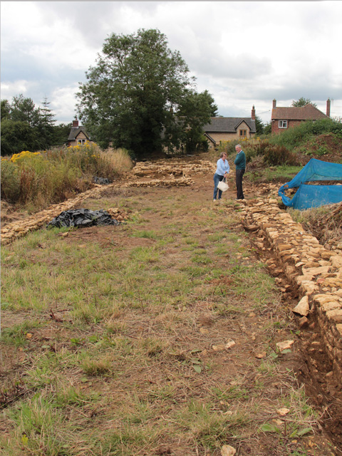 Croxton Kerrial 12thC Medieval Manor House: excavations (7)
