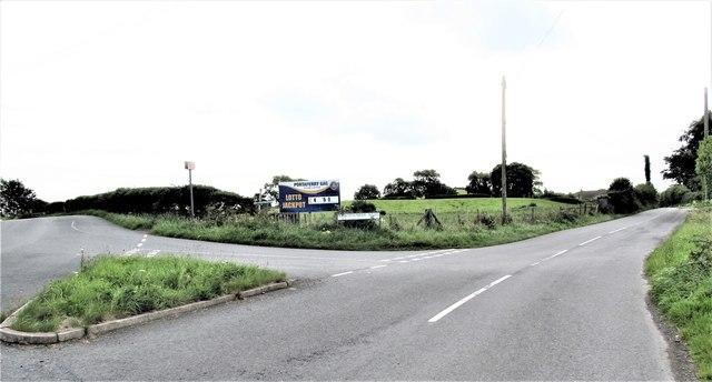 The Ballyblack Road junction on the Ballyfounder Road