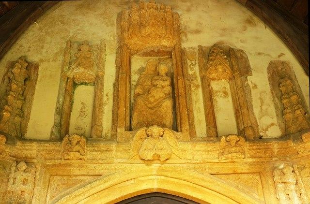 South doorway, Powerstock church