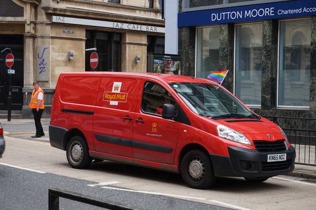 Royal Mail Van flies the flag