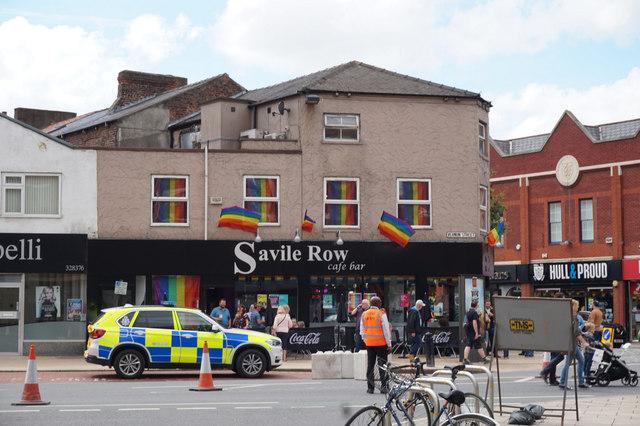 Savile Row Café Bar on Vernon Street, Hull