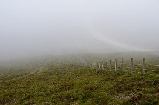 Deil's Barn Door in mist