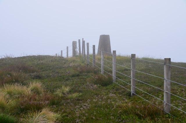 Summit trig point, Whitelaw Brae